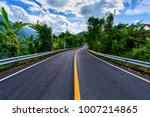 asphalt road and mountains... | Shutterstock . vector #1007214865