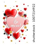 valentine's day card with... | Shutterstock .eps vector #1007214922