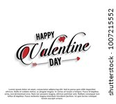 happy valentine's day card... | Shutterstock .eps vector #1007215552