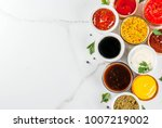 set of different sauces  ... | Shutterstock . vector #1007219002
