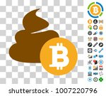 bitcoin shit pictograph with... | Shutterstock .eps vector #1007220796