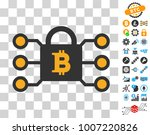 bitcoin lock links icon with...