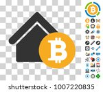 bitcoin home rent pictograph...
