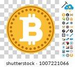 bitcoin coin icon with bonus...