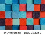 cloaseup of colorful wooden... | Shutterstock . vector #1007223352