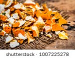 Close Up Of Dried Peel Of...