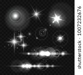glowing lights  stars and... | Shutterstock .eps vector #1007232676