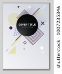 laconic memphis notepad cover... | Shutterstock .eps vector #1007235346