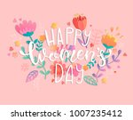 happy women's day with... | Shutterstock .eps vector #1007235412