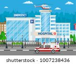 hospital building  medical icon.... | Shutterstock .eps vector #1007238436