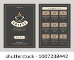 coffee shop logo and menu...   Shutterstock .eps vector #1007238442