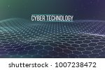 background 3d grid.cyber... | Shutterstock .eps vector #1007238472