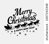 merry christmas and happy new... | Shutterstock .eps vector #1007242348