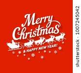 the inscription merry christmas ... | Shutterstock .eps vector #1007245042