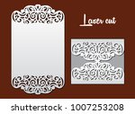 wedding invitation with lace... | Shutterstock .eps vector #1007253208