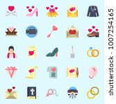 icons set about wedding. with... | Shutterstock .eps vector #1007254165