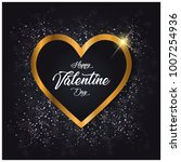 happy valentine's day card with ... | Shutterstock .eps vector #1007254936