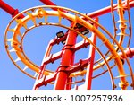part of a roller coaster in... | Shutterstock . vector #1007257936