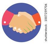 handshake  agreement and joint... | Shutterstock .eps vector #1007259706