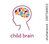 child brain icon. brain... | Shutterstock .eps vector #1007260012