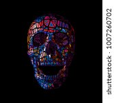 colorful vector polygonal skull ... | Shutterstock .eps vector #1007260702