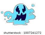 comical monster  blue jelly | Shutterstock . vector #1007261272