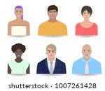 office portraits of people ... | Shutterstock .eps vector #1007261428