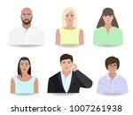 people stylize portrait vector... | Shutterstock .eps vector #1007261938