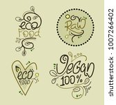vegan product labels. suitable... | Shutterstock .eps vector #1007266402