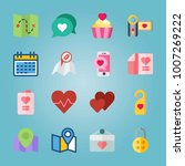 icon set about wedding. with... | Shutterstock .eps vector #1007269222