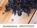 black wine grape. grape for red ... | Shutterstock . vector #1007272315