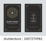 luxury business card and... | Shutterstock .eps vector #1007274982