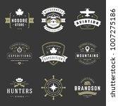 camping logos templates vector... | Shutterstock .eps vector #1007275186