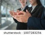 businessman and businesswoman... | Shutterstock . vector #1007283256