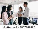 experienced team members... | Shutterstock . vector #1007287372