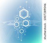 minimal design  the hexagonal...   Shutterstock .eps vector #1007289046