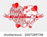 my heart icon love valentine's... | Shutterstock .eps vector #1007289748