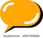 bubble speech vector icon | Shutterstock .eps vector #1007290006