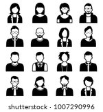 collection of cartoons   human... | Shutterstock .eps vector #1007290996