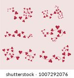 decorative hearts borders set... | Shutterstock .eps vector #1007292076