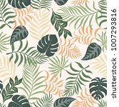 tropical background with palm... | Shutterstock .eps vector #1007293816