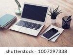 responsive design mockup | Shutterstock . vector #1007297338