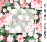 happy valentines day typography ... | Shutterstock . vector #1007301022