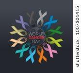 world cancer day icon design.... | Shutterstock .eps vector #1007301415