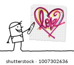 cartoon boy drawing a sketchy...   Shutterstock .eps vector #1007302636