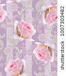 seamless pattern. decorative... | Shutterstock . vector #1007303482