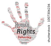 vector conceptual human rights... | Shutterstock .eps vector #1007306236