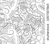 seamless mehndi vector pattern. ... | Shutterstock .eps vector #1007307865