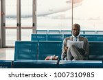 serious businessman reading... | Shutterstock . vector #1007310985