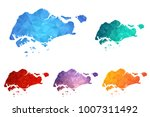 variety color polygon map on... | Shutterstock .eps vector #1007311492